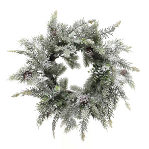 Wreath Eucalyptus with Snow 18''