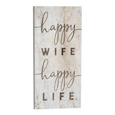 Happy Wife Happy Life Wood Sign