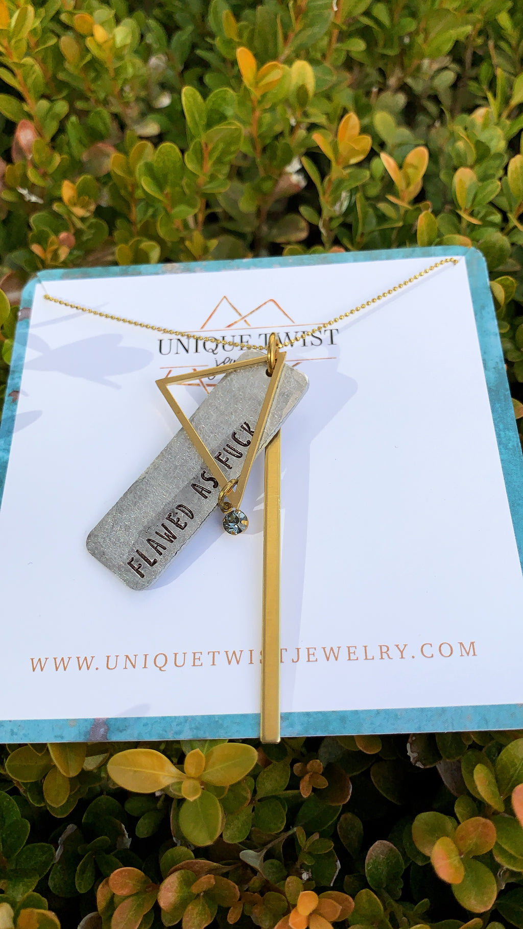 Unique Twist Jewelry - Flawed As Fuck Necklace