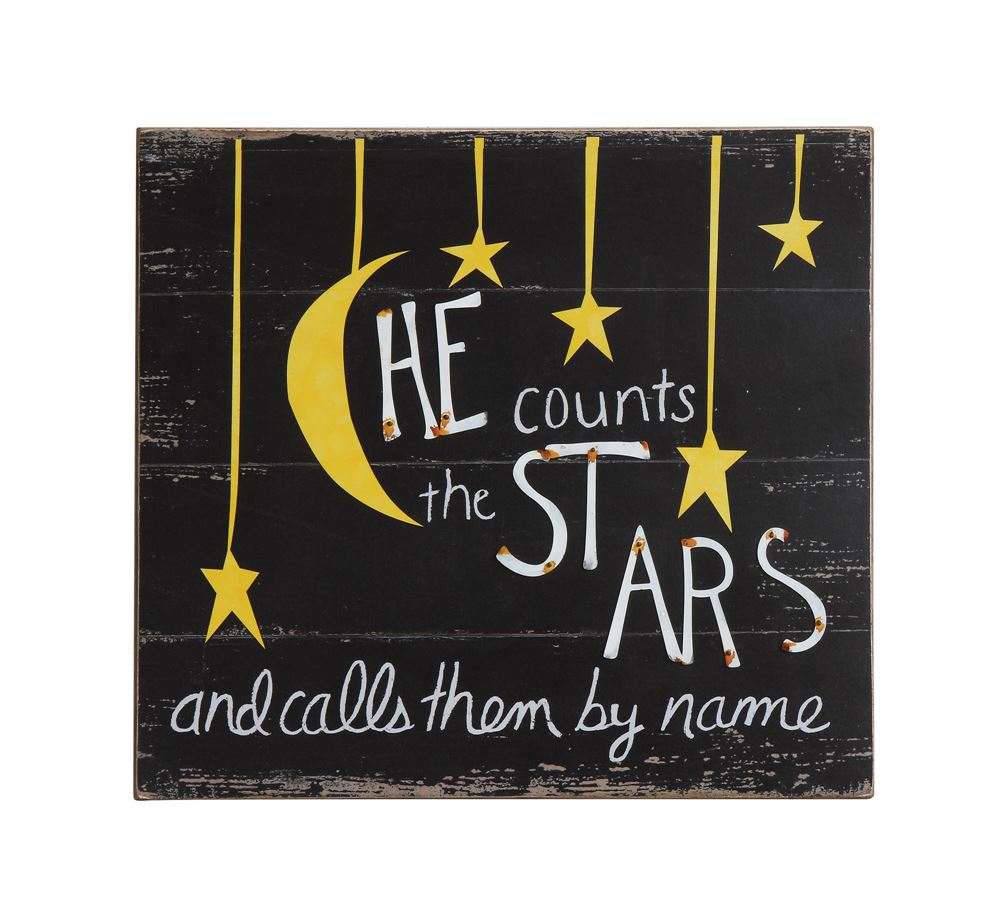 "Wall Decor ""He Counts The Stars..."""