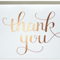 Parrott Design Studio - Thank You Rose Gold Card