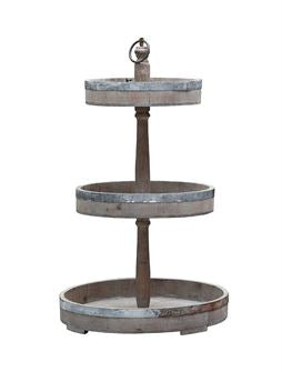 Wood & Metal 3-Tier Tray