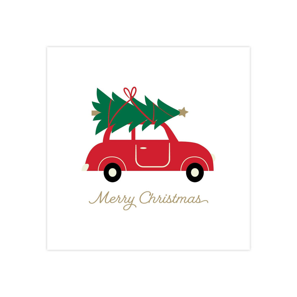 X&O Celebrations - Red Car - Beverage Napkin
