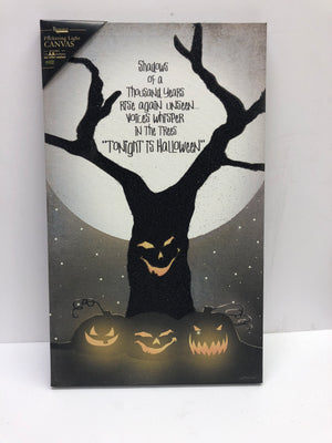 Tonight is Halloween Lighted Canvas