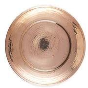 "12"" Copper Hammered Charger"