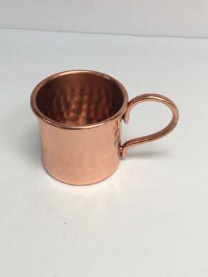 Mini Mug Hammered Straight w/ handle