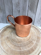 Shiny Copper straight  mug with handle