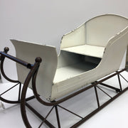 "31"" White and Brown Sleigh"
