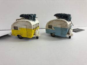 Resin Retro Camper Ornament
