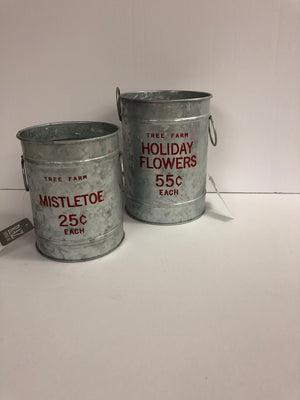 Set of two Christmas tins