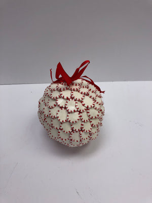 Peppermint ball ornament