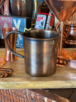 Smooth Antique Copper Straight Mug with brim