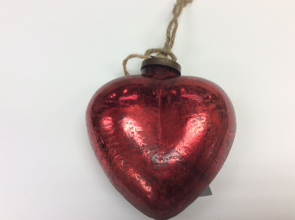 Red Mercury Heart Ornament