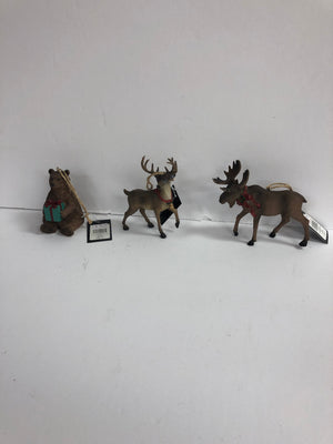Resin Wild Animal Christmas Ornament