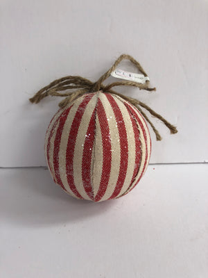 Red and White Fabric Ornament