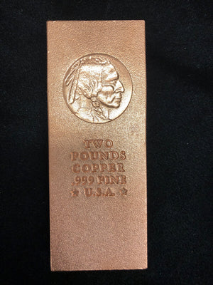 Copper Ingot Two Pound