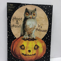 Lighted Hoot and Howl Canvas