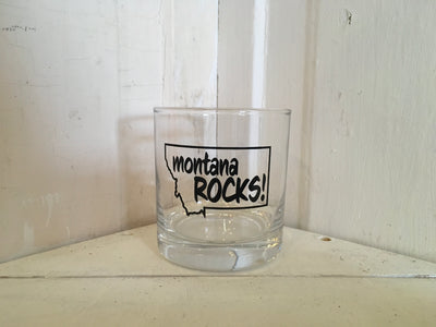 Montana Rocks- Whiskey glass