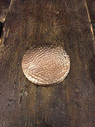 Shiny Hammered Copper Coaster
