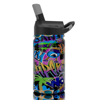 12 Oz. lil SIC Black Graffiti Bottle