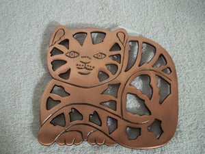 Copper Cat Trivet