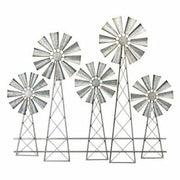 5 Windmills Wall Decor
