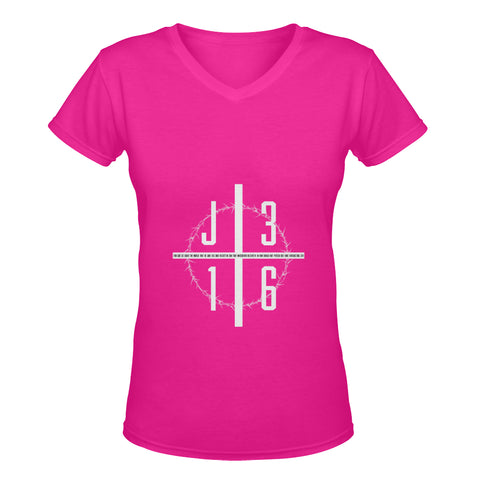 John 3:16 Classic Woman's V neck Shirt