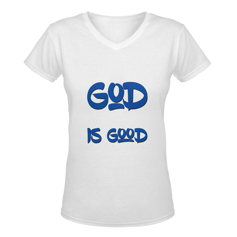 God is Good Womans classic deep V-Neck