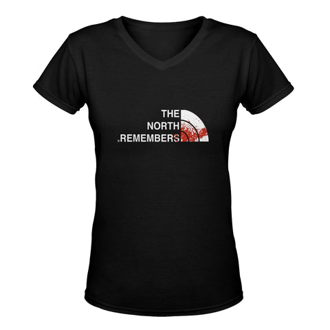 The north remembers GOT classic woman's v-neck shirt