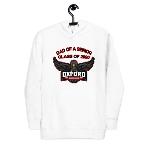 Oxford Blackhawks 2020 Dad of a senior hoodie