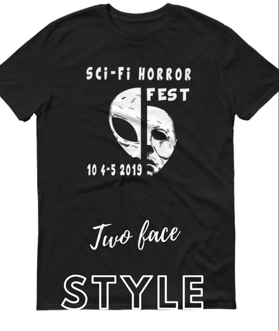 Sci-fi Horror Fest Two face style shirt.