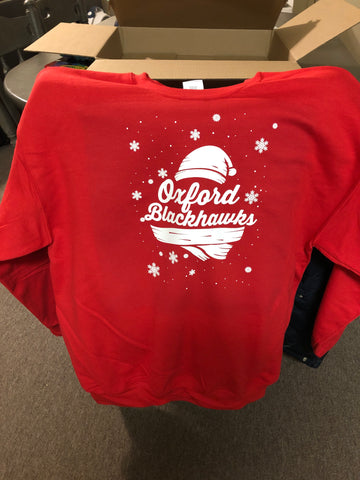 Oxford Blackhawks apparel Christmas sweater