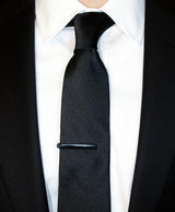 Black Silk Tie - Shorter Ties
