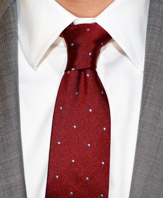 Burgundy dotted silk tie shorter ties burgundy dotted silk tie shorter ties ccuart Gallery