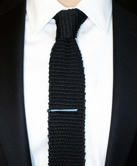 Black knitted silk tie shorter ties black knitted silk tie shorter ties ccuart Gallery
