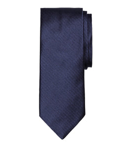 Navy Herringbone Silk Tie - Shorter Ties