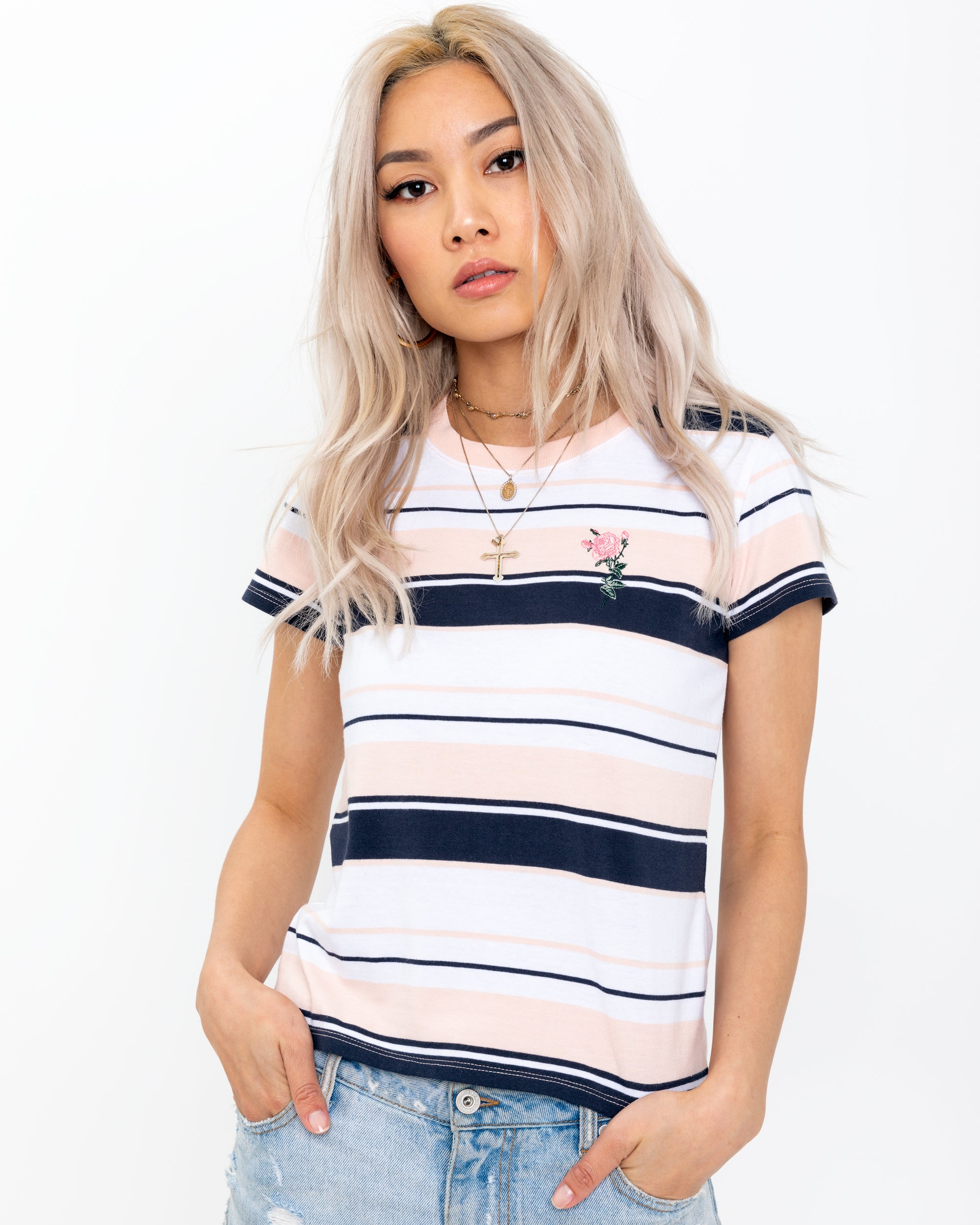 Striped Rose T-Shirt
