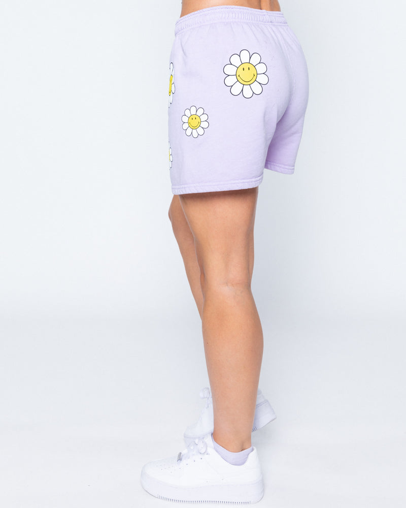 Smiley One Of Those Daze Shorts, Lavender