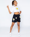 Smiley Chill Baby Crop Tee