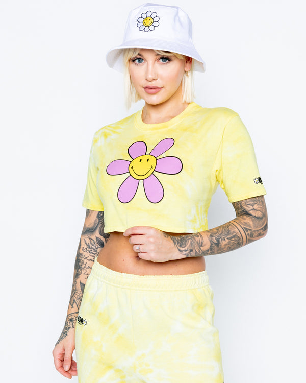 Smiley Hazy Daisy Crop Tee