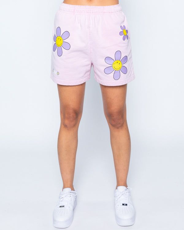 Smiley In A Mood Shorts, Pink
