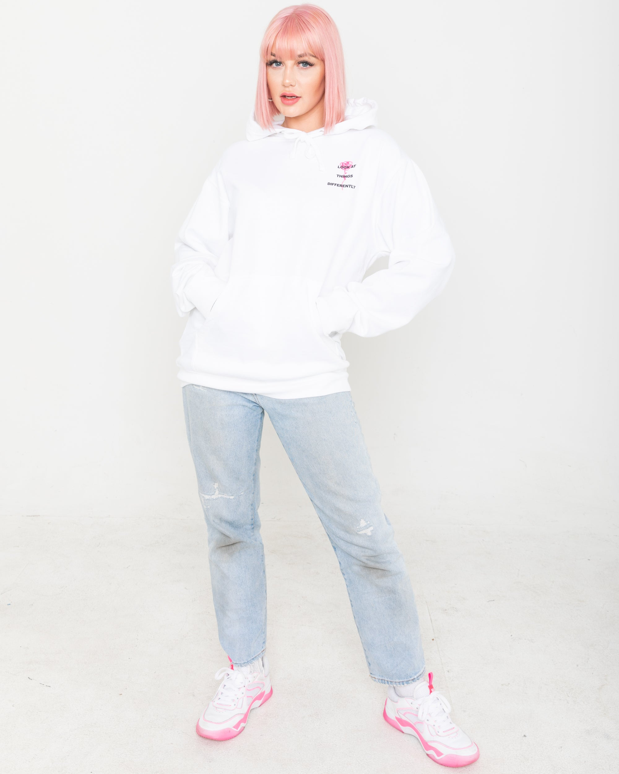 Perspective Hoodie, White
