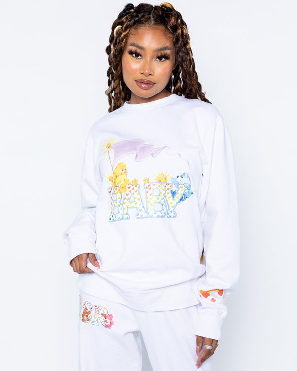 Baby Bear White Crewneck