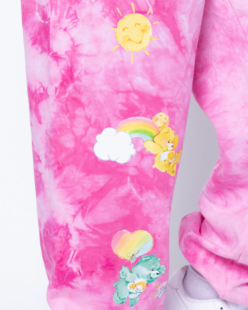 Happy Thoughts Pink Tie-Dye Sweatpants