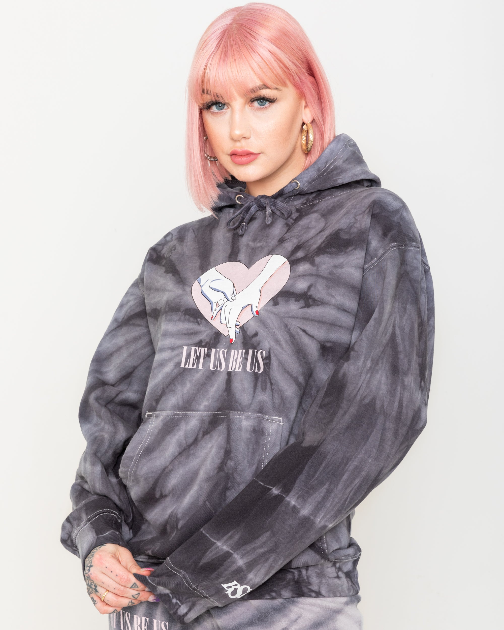 Together Black Tie Dye Hoodie