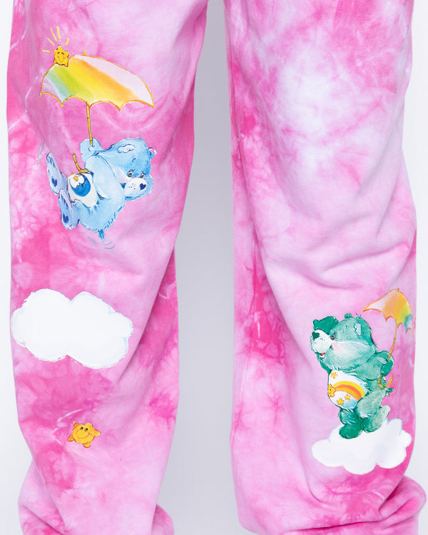 In The Clouds Tie-Dye Sweatpants, Pink