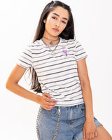 Lust Grey Striped Tee