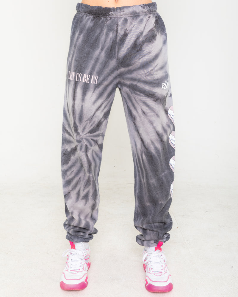 Together Black Tie Dye Sweatpants