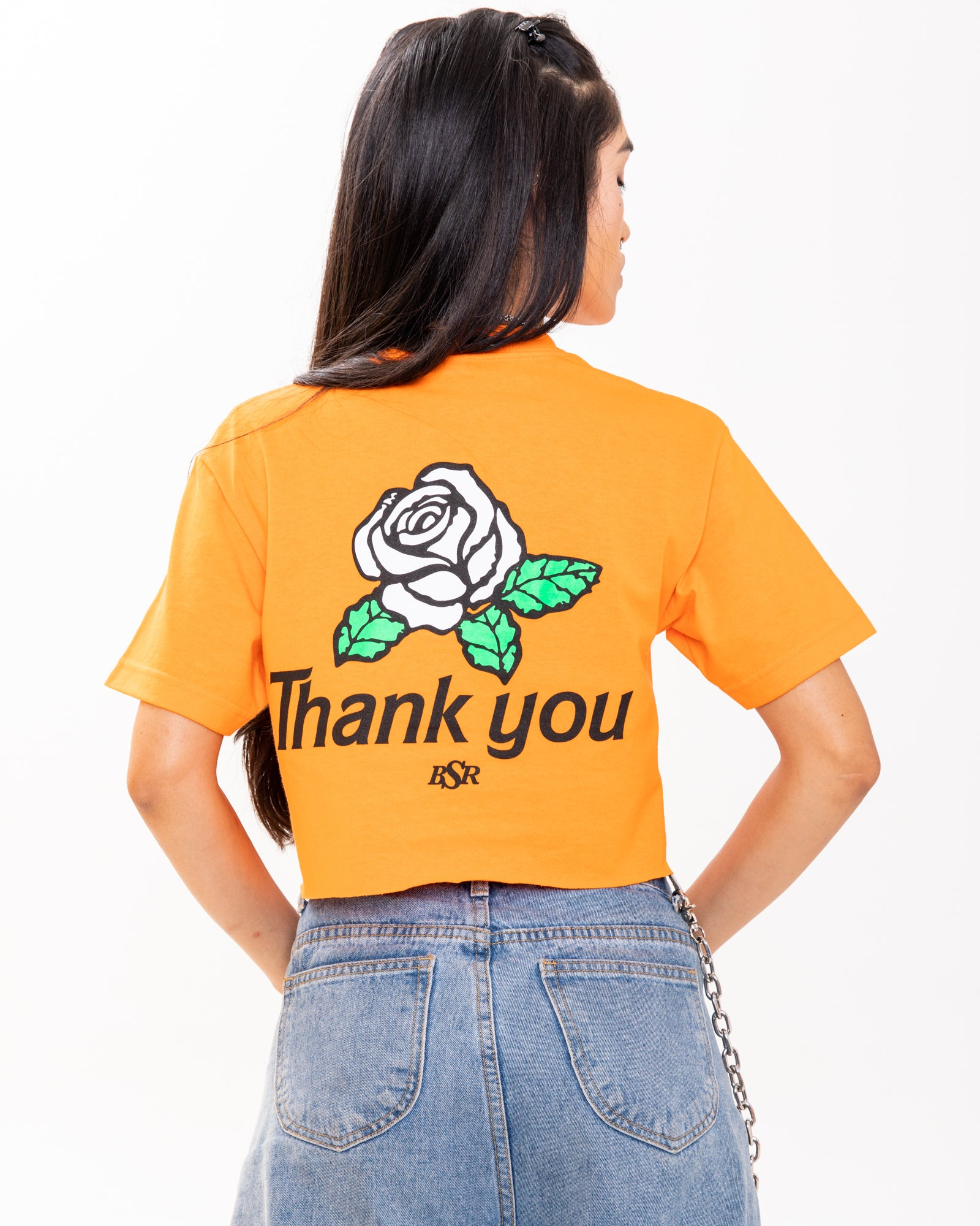 Thank You Orange Crop Top
