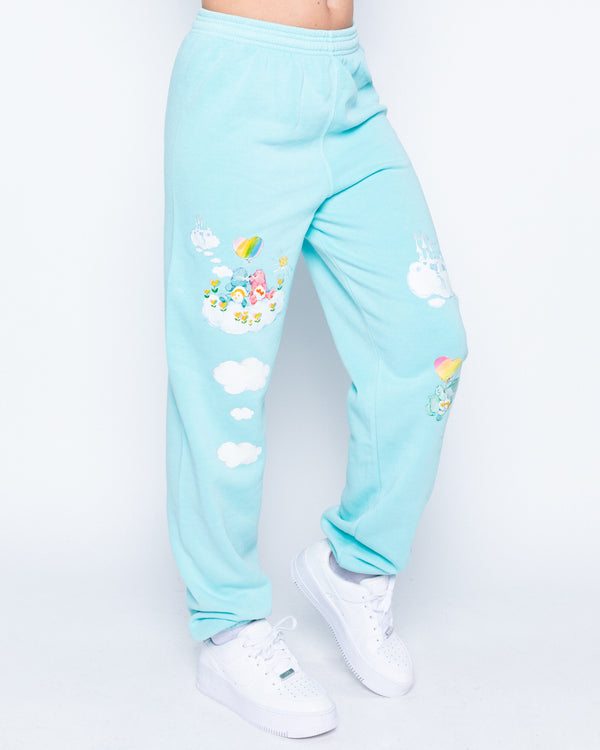 Cloudy Kingdom Teal Sweatpants
